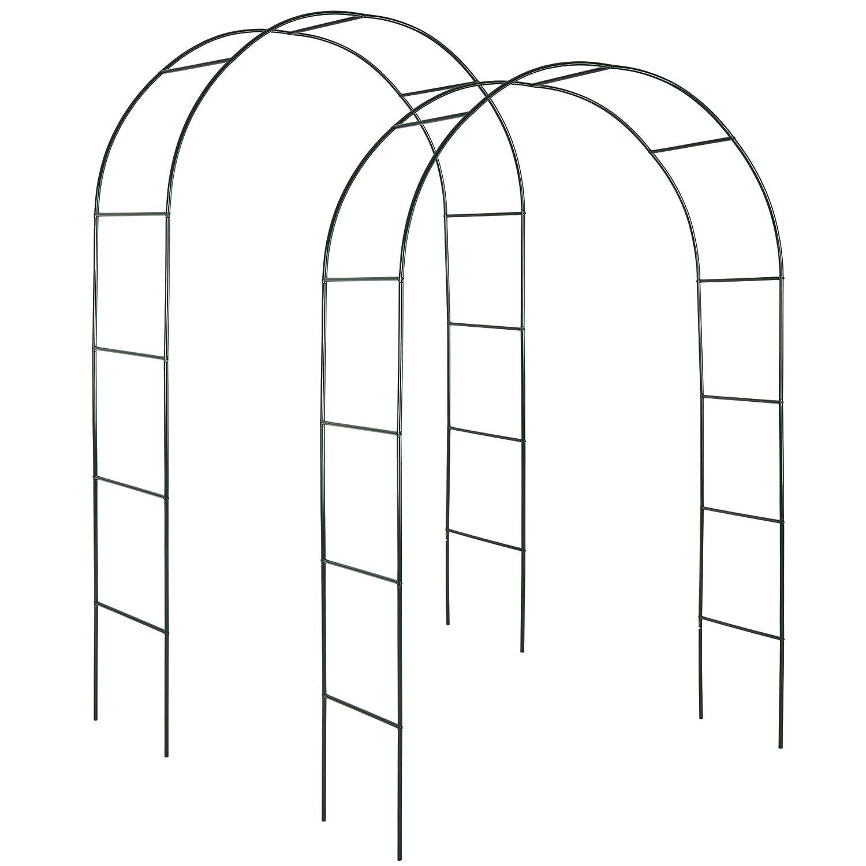 diverses quantit/és 2 pi/èces   no. 402660 TecTake Arceau /à rosiers Tuteur Colonne de Jardin Arche /à rosiers
