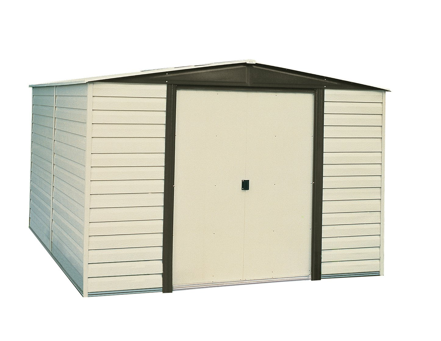 amazoncom arrow vd108 a vinyl coated dallas 10 feet by 8 feet steel storage shed sheds outdoor storage patio lawn garden