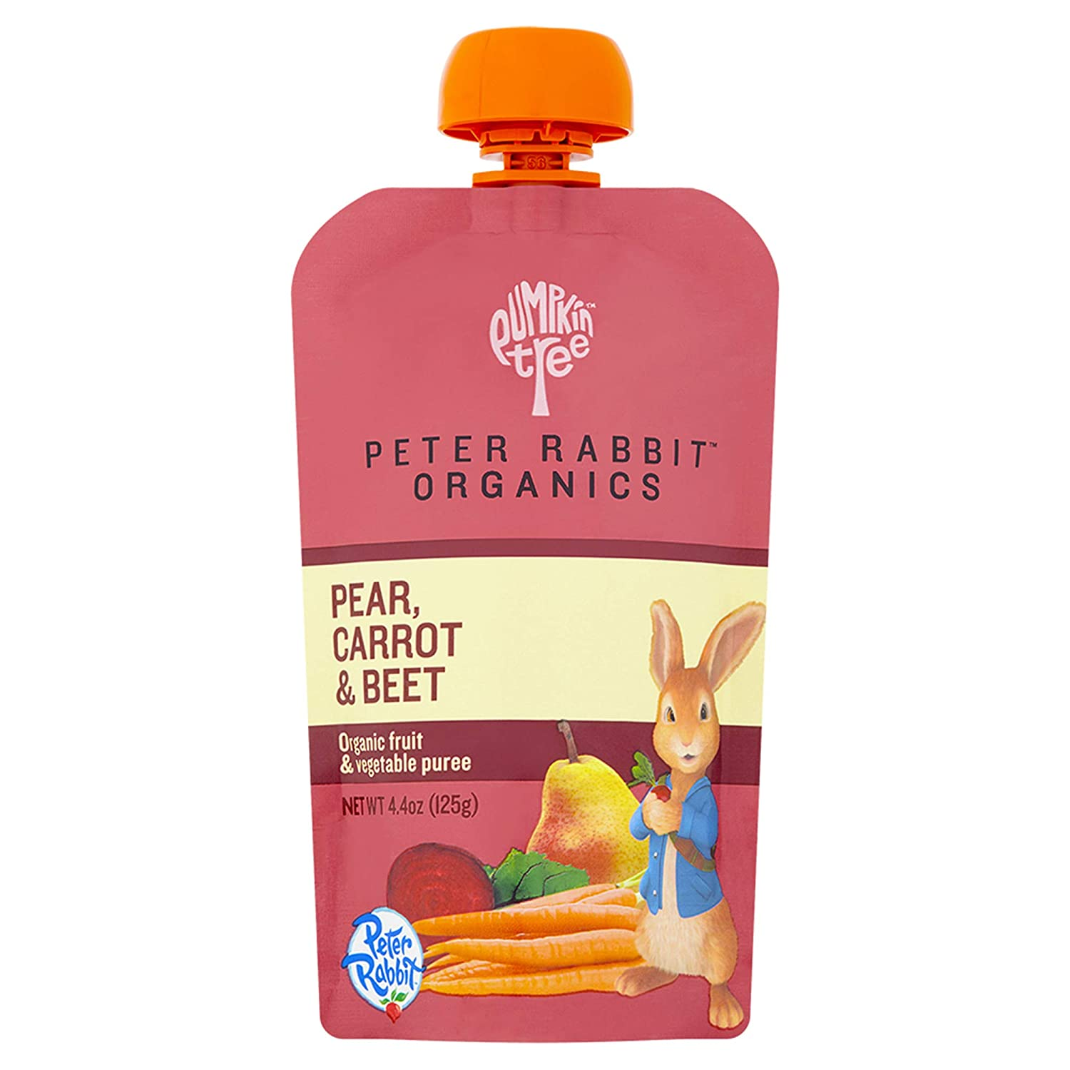 Peter Rabbit Organics Beet, Carrot and Pear, 4.4 Ounce Pouches, Pack of 10