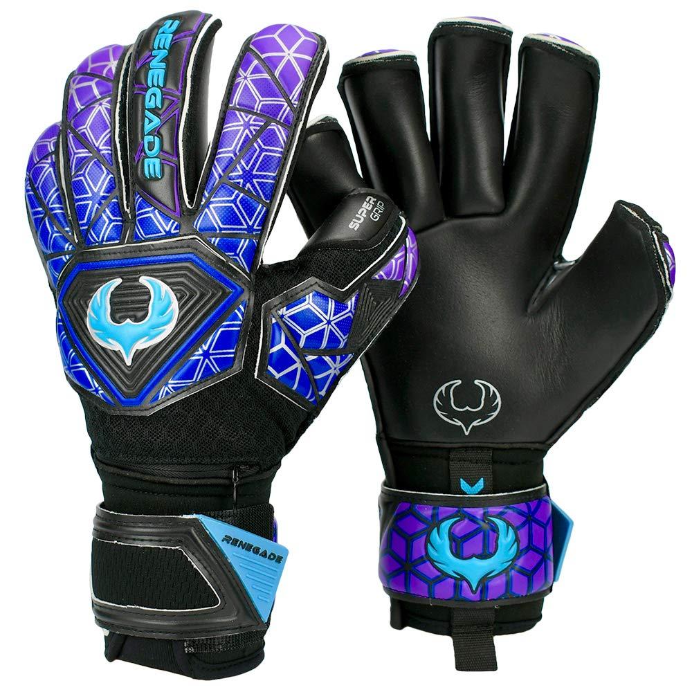 Renegade GK Vortex Storm Roll Cut Level 3 Outdoor/Indoor Goalie Gloves for Kids & Adults with Hypergrip Palms - Girls & Boys Soccer Gloves Kids - Kids Soccer Goalie Gloves Youth - Black, Yellow, Red