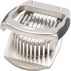 HIC Harold Import Co. , Stainless Steel Wires Deluxe Mushroom and Egg Slicer, 4.5-Inches x 3.5-Inches, 1.5-Inches