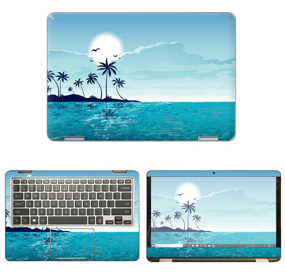 decalrus - Protective Decal Beach Skin Sticker for Samsung Notebook 7 Spin NP730QAA (13.3'' Screen) case Cover wrap SAntbk7_np730qaa-96 by decalrus (Image #1)