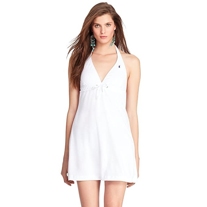 115dae502b Ralph Lauren Women's Terry Halter Dress Cover up White Size Large:  Amazon.ca: Clothing & Accessories