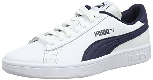 Puma Smash V2 L, Zapatillas Unisex Adulto, Blanco (Puma White-Peacoat 2), 39 EU
