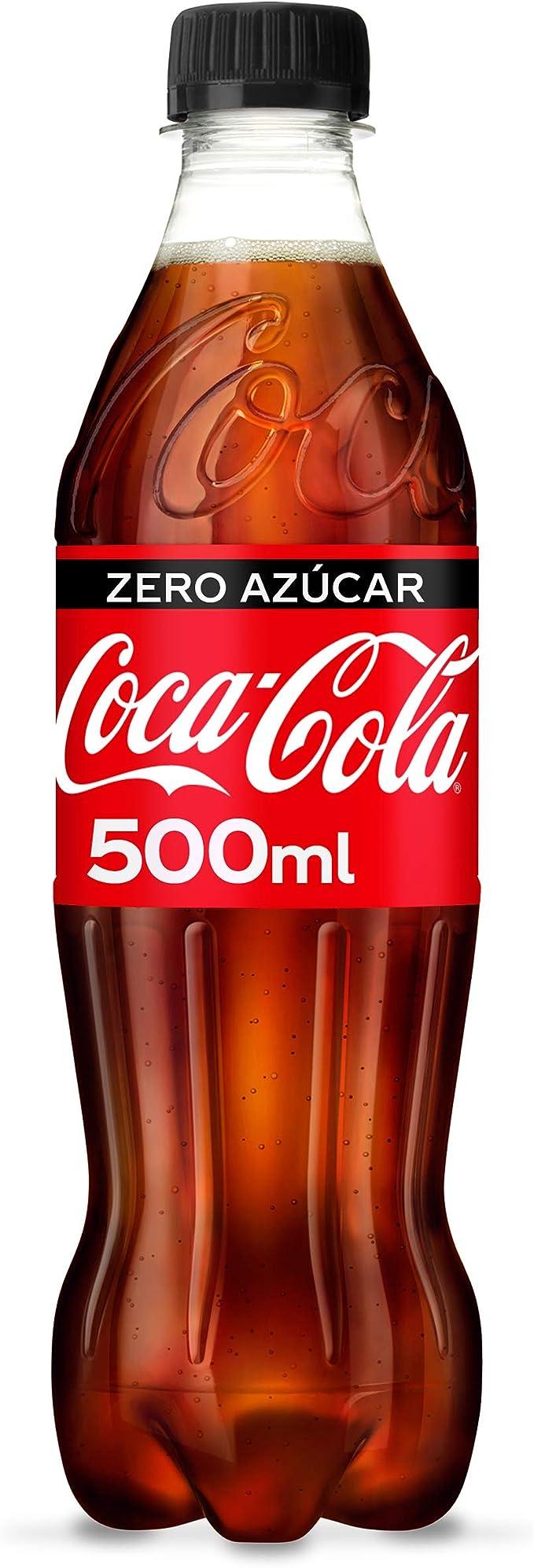 Coca-Cola Zero Azúcar Botella - 500 ml: Amazon.es: Alimentación y bebidas