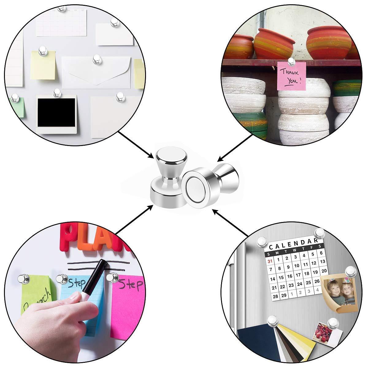 per mappe calendari e frigoriferi lavagne 20 mm 20 puntine magnetiche al neodimio diametro 12 mm Wukong