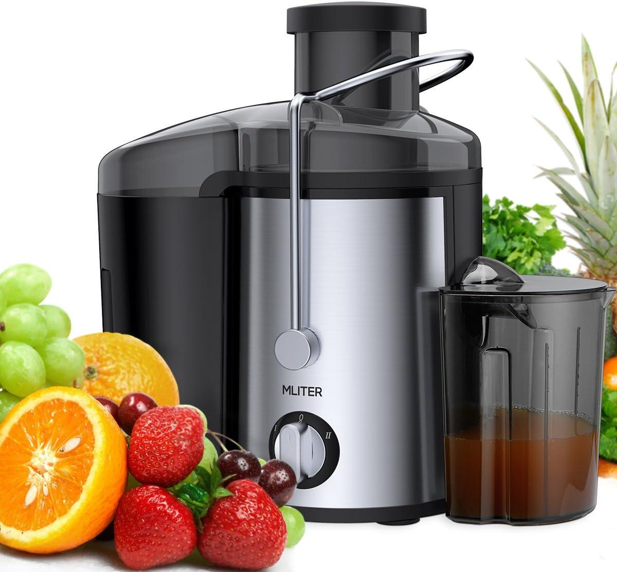 Licuadora para Frutas y Verduras MLITER, Exprimidor Centrífugo de ...