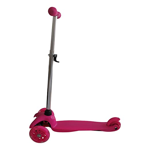 Tante Tina - Pasola / Patinete para niños con ruedas luminosas - De 3 ruedas - Fucsia