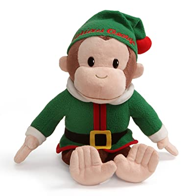 "GUND Curious George Elf Holiday Monkey Stuffed Animal Plush, 12"": Toys & Games"