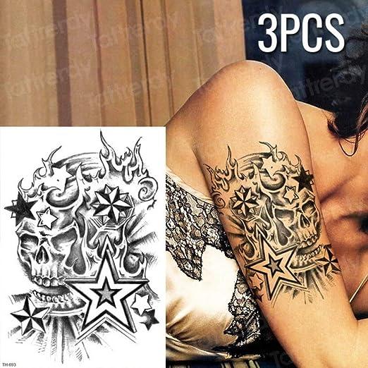 tzxdbh 3 Piezas/Set Tatuaje Temporal de la Etiqueta de patrón ...