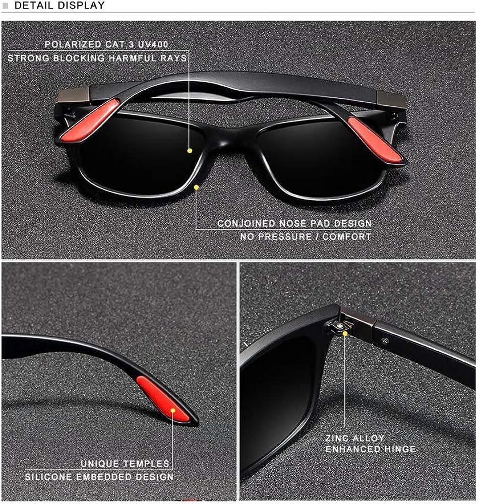 KINGSEVEN - Occhiali da sole polarizzati UV400, da uomo Blu/Grigio.