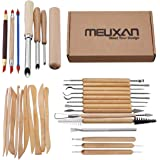 Meuxan 31PCS Ceramic Pottery Tools Polymer Clay Sculpting Kit