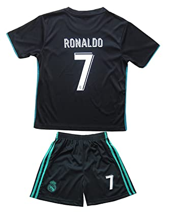 d82395e4f1b Image Unavailable. Image not available for. Color  17 18 New Season Real  Madrid 7 Ronaldo Kids Youths Away Soccer Jersey Shorts