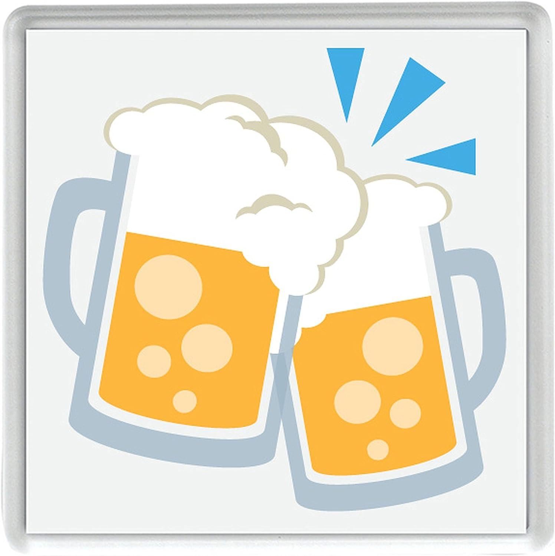 Compra tintineo jarras de cerveza Emoji Pack de 4 de 80mm x 80mm posavasos en Amazon.es