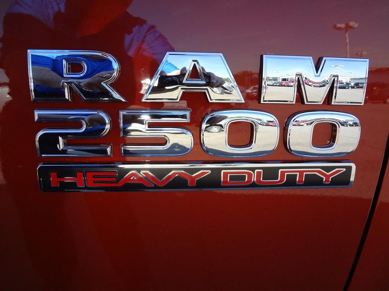 Yoaoo/® 2x GENUNE Chrome Dodge RAM 2500 Emblem Badge 3D Emblem Decals Nameplates Flat Letter Shiny OEM