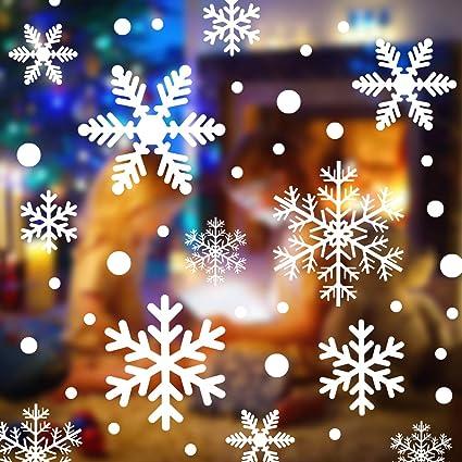Decorazioni Natalizie Per Vetrine Negozi.108 Pz Vetrofanie Natale Adesivi Natale Finestre Decorazioni Natalizie Rimovibile Addobbi Di Natale Stickers Natalizi Vetrofanie Addobbi Natalizi Per La Casa Finestre Vetrine Negozio Amazon It Fai Da Te