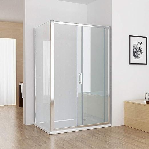Puerta de ducha corredera de baño fácil de limpiar Nano cristal Mampara de ducha – sin bandeja: Amazon.es: Bricolaje y herramientas