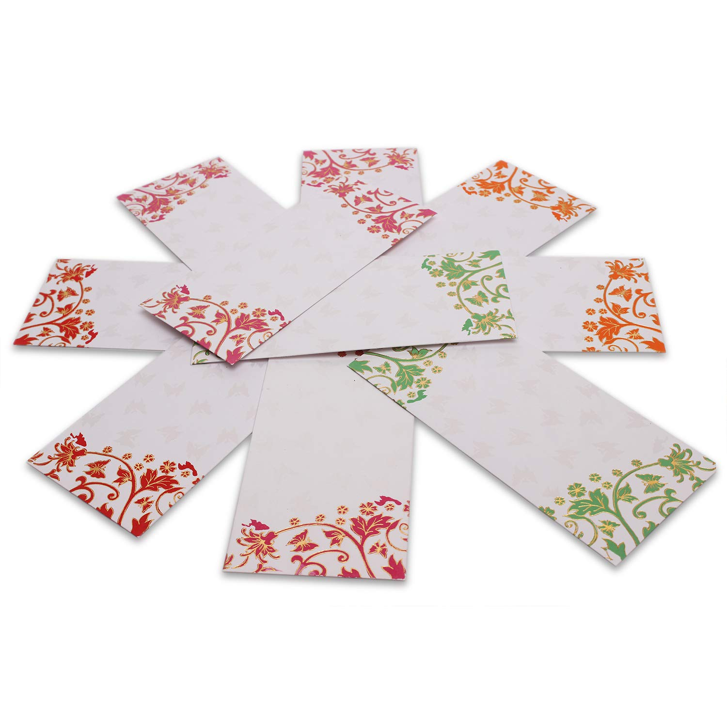 "PARTH IMPEX Premium Shagun Gift Envelope for Cash Pack of 50 7.5/"" x 3.5/"""