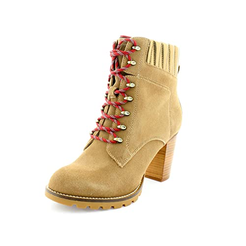 Tommy Hilfiger Basic Hiking Heeled Boot Suede - Botines Mujer Beige Talla 40: Amazon.es: Zapatos y complementos