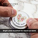 1.5 Inch Round Labels - Pack of 3,000 Circle