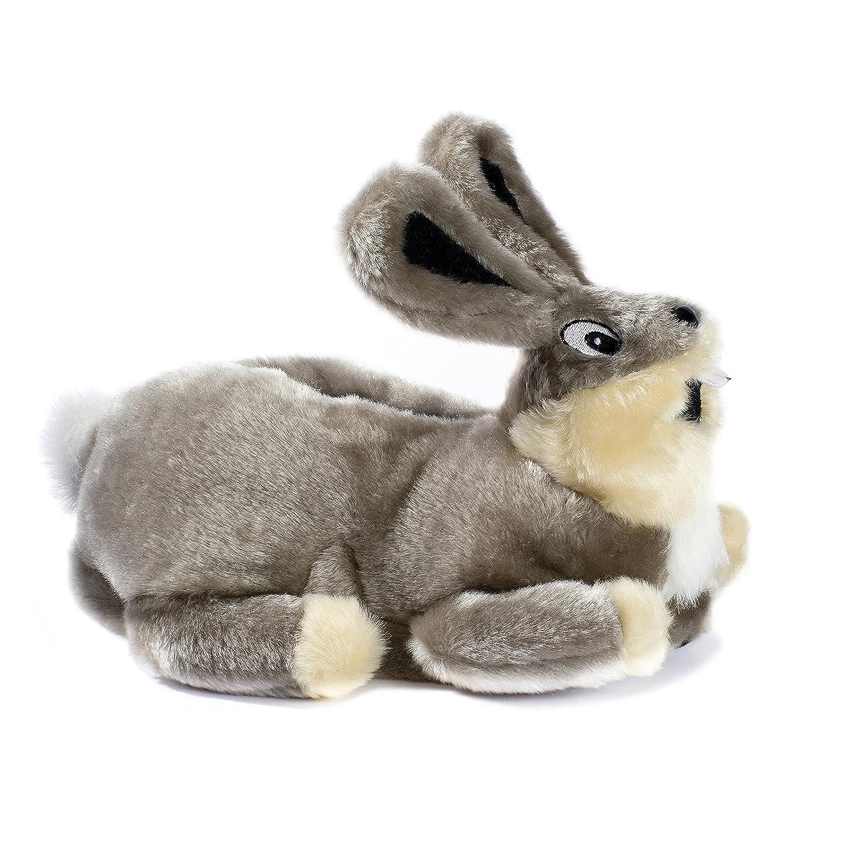 funslippers®, lustige Hausschuhe Tiere Tierhausschuhe Größe 42, 43, 44 Schadstoffgeprüft Schildkröte Plüsch Hausschuhe mit Gummisohle L