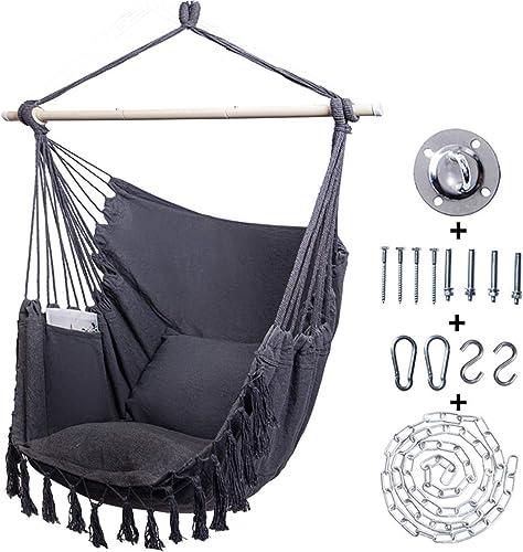 Kanchimi Hanging Chair-Max 330 Lbs.Large Hammock Chair