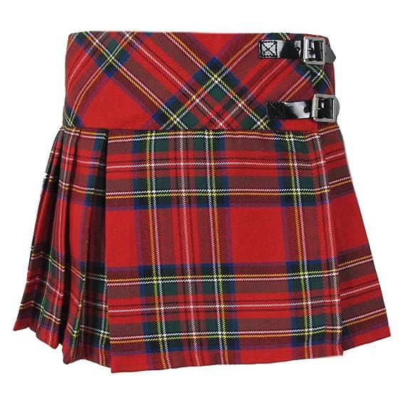 f348f987daff89 Tartanista - Jupe écossaise - Tartan Royal Stewart - Sangle Cuir - Fille -  Rouge: Amazon.fr: Vêtements et accessoires