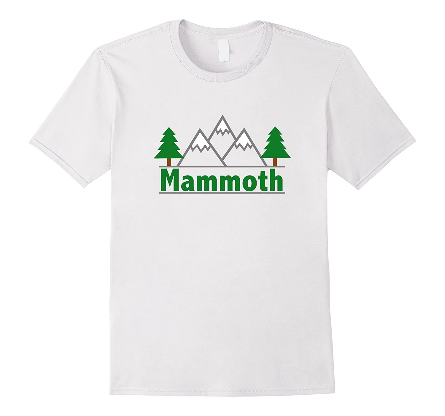 Mammoth California - Mountain  Trees Color T-Shirt-RT