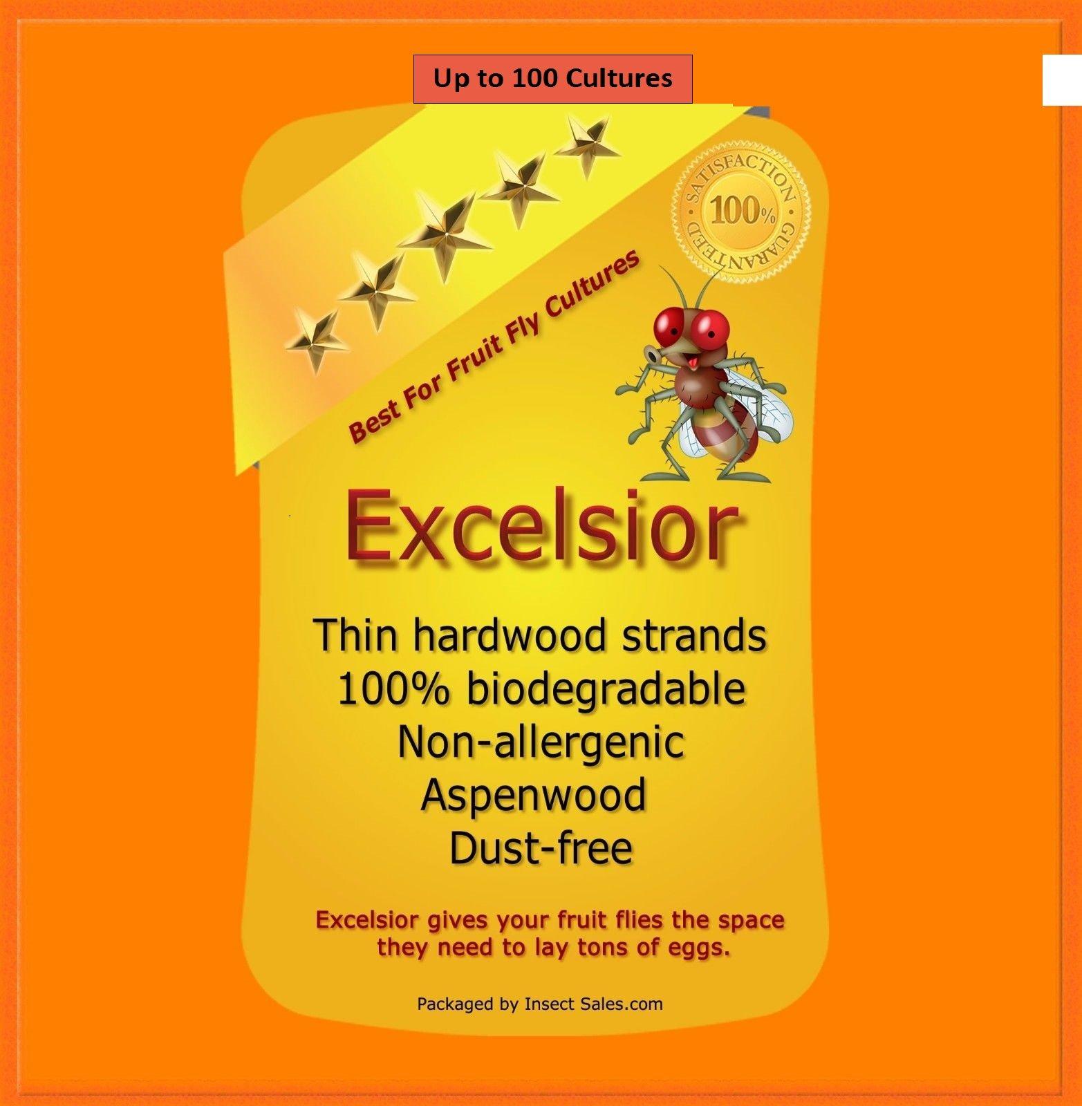 Excelsior (Aspen Wood) Fine Fiber - Will Make approx. 100 Fruit Fly Cultures
