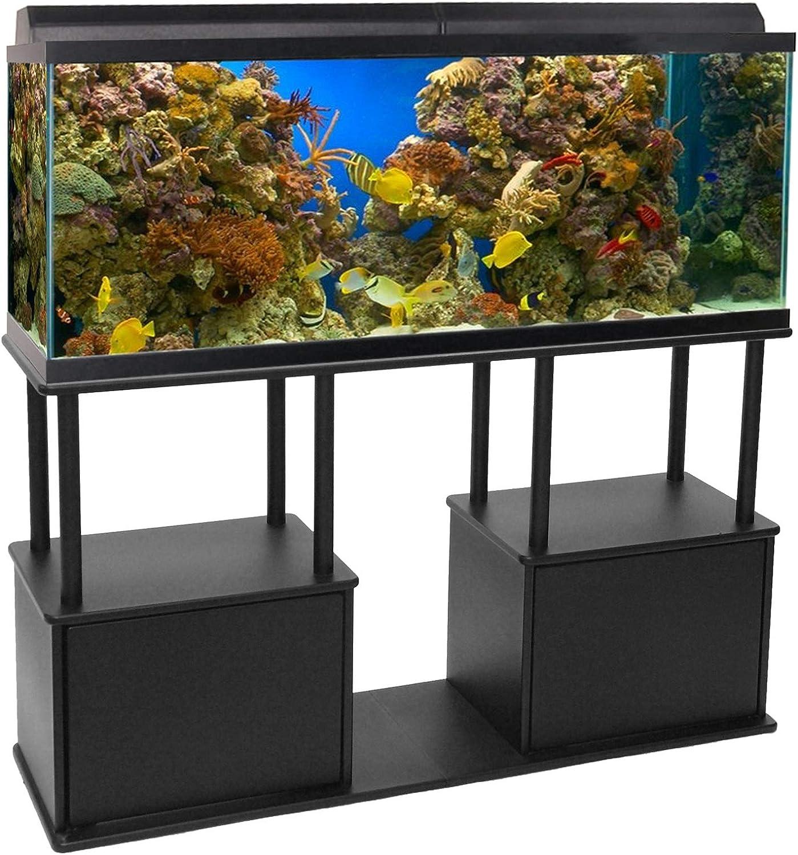 Amazon Com Aquatic Fundamentals Aquarium Stand 55 Gallon Black Furniture Decor