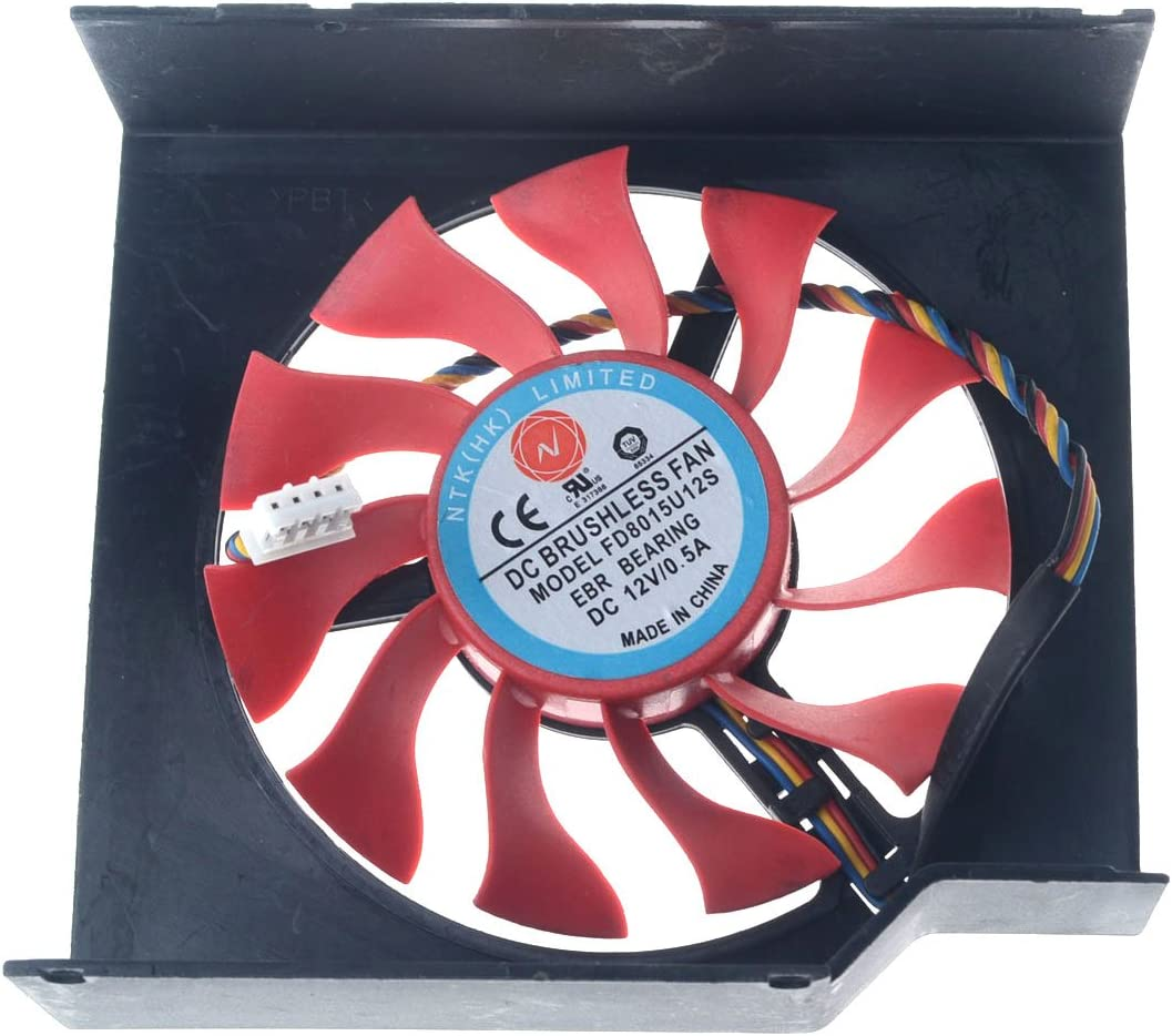 FD8015U12S 75mm DC 12V 0.5A 4pin 4wires Replacement Graphics Video Card PC Cooling Fan