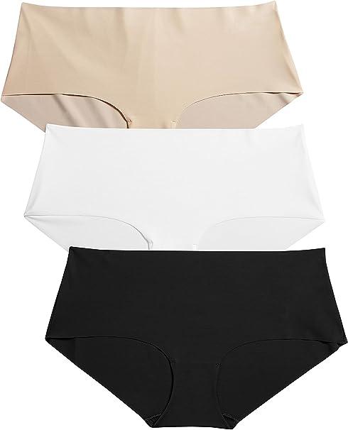 next Mujer Paquete De 3 Culotes Sin Costuras Negros Blanco Nude Ropa Interior Cómoda Suave: Amazon.es: Ropa y accesorios
