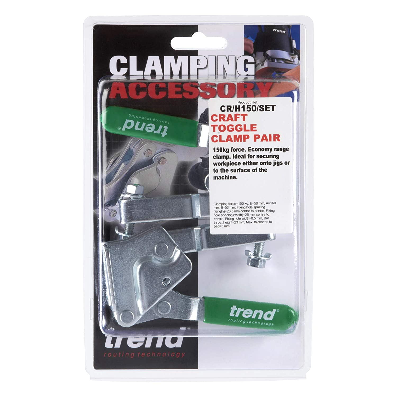 Trend CR//H150//SET  Toggle Clamp Set 150 Kg Pair