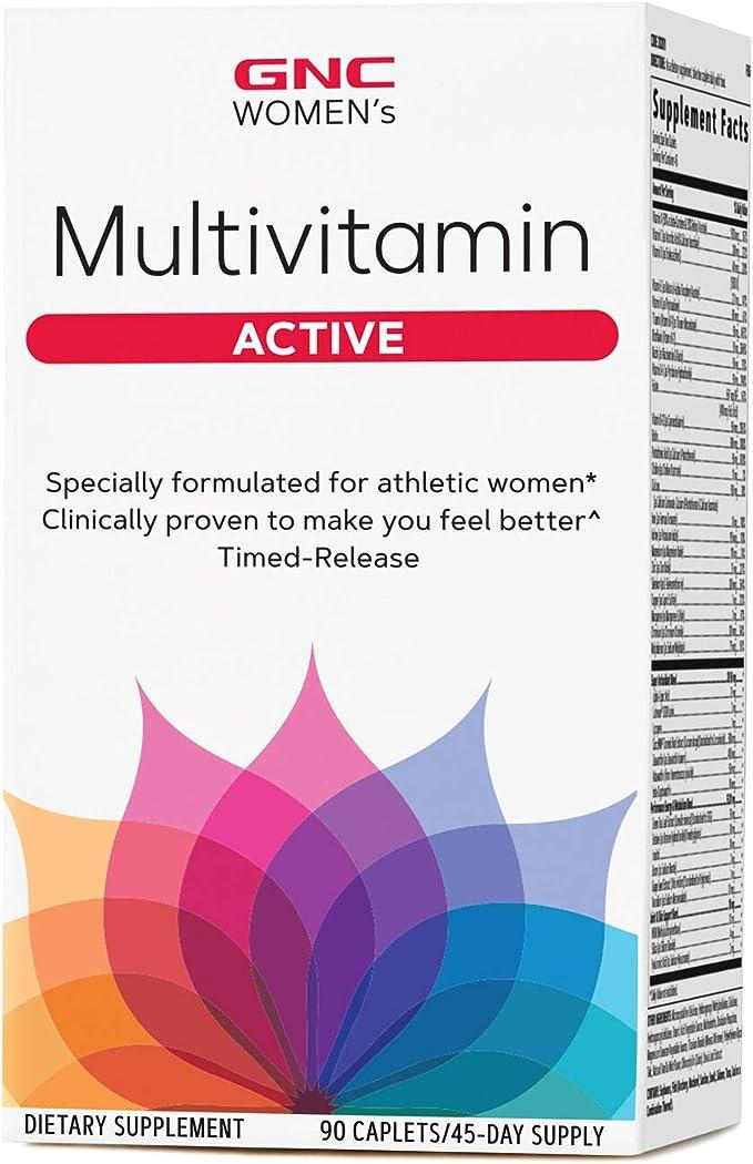 GNC Womens Multivitamin Active - Multivitaminas para la mujer activa 90 comprimidos