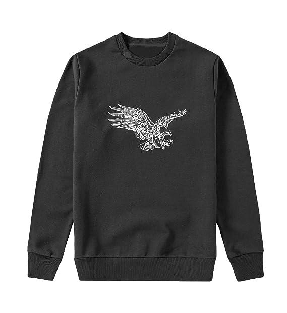 American Eagle Flying Capucha Crewneck Sudadera Sweater Sweatshirt Camisa De Entrenamiento Cumpleaños: Amazon.es: Ropa y accesorios