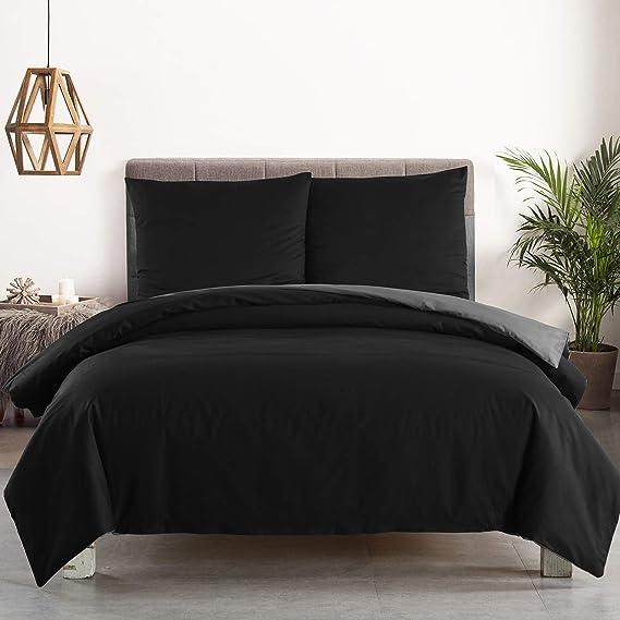 Bettwäsche 4teilig 155x220 cm Satin Baumwolle Bettgarnitur Bettbezug BWS04m02-2
