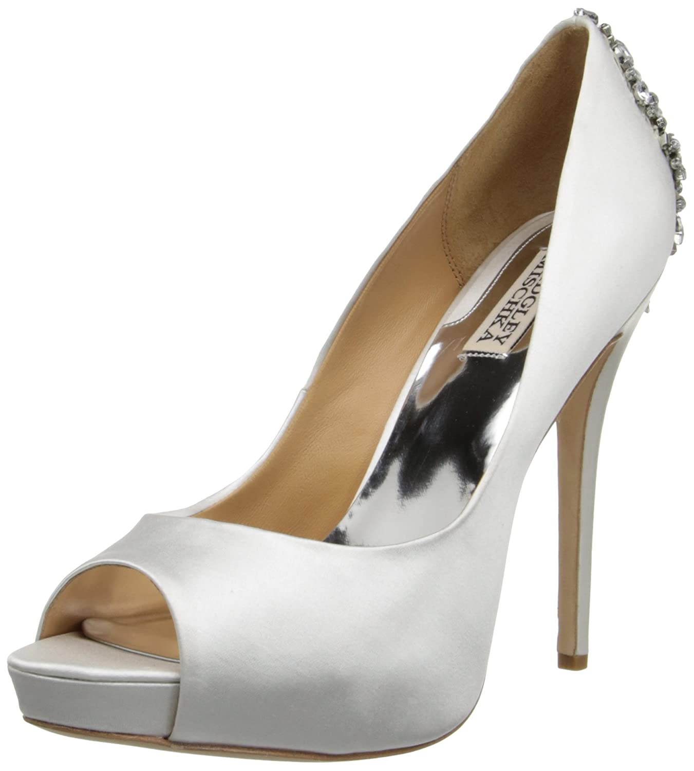 Badgley Mischka Women's Kiara Platform Pump B00HJ2HAP0 5 B(M) US|White