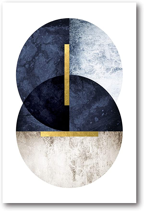 Courtside Market Dark Navy 24 X36 Gallery Wrapped Canvas Wall Art Flower Gold Blue White Yellow Multi Color Posters Prints Amazon Com