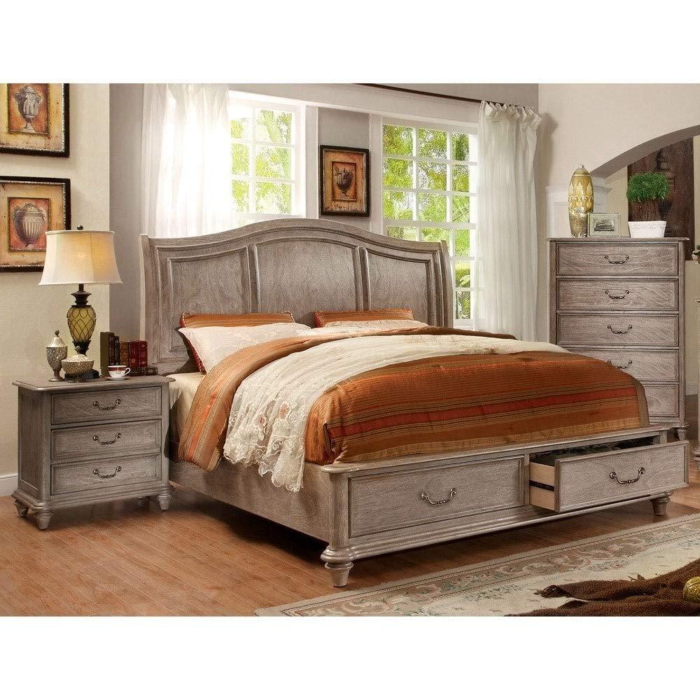 Amazon Com Furniture Of America Minka Iii Rustic Grey 3 Piece
