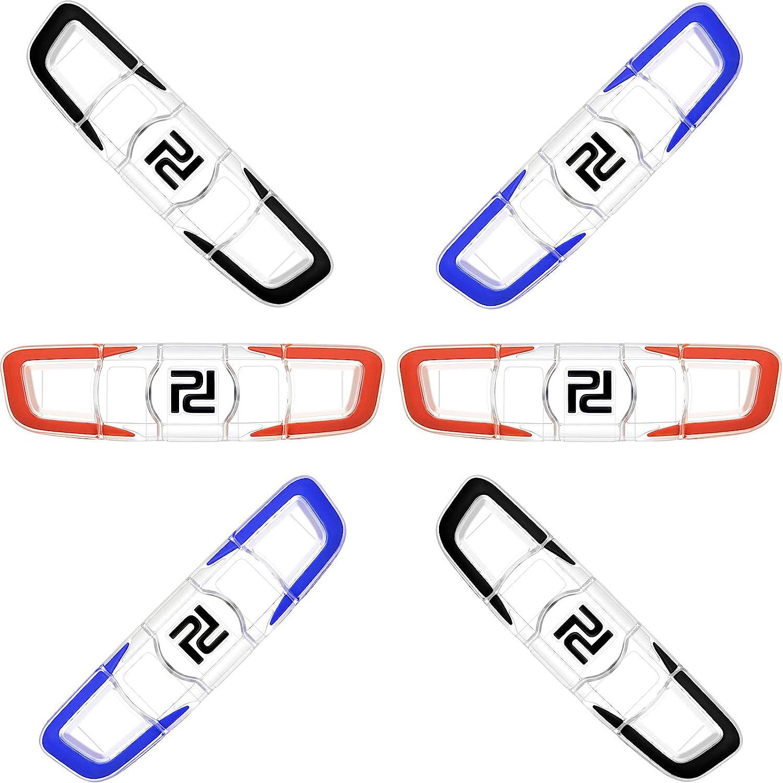 6 Pieces Tennis Racquet Vibration Dampener Shock Absorber Damper