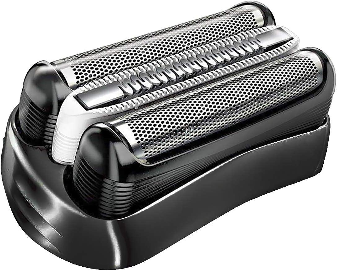 Poweka - Cabezal de afeitado de repuesto 32S para afeitadoras Braun Series 3 320S 3010S 3000S 300S 3020S 310S 3070 3080S 3020 350 340 320 350CC 370CC: Amazon.es: Salud y cuidado personal