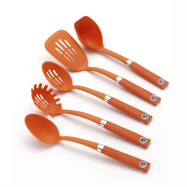 Amazon Rachael Ray Tools 5 Piece Soft Grip Tool Set Orange