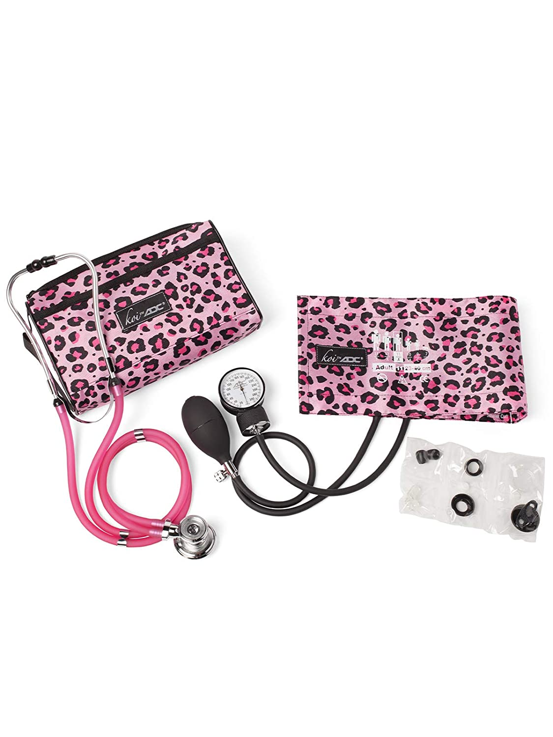 Koi by ADC Blood Pressure Cuff and Stethoscope Combination Kit Pink Cheetah