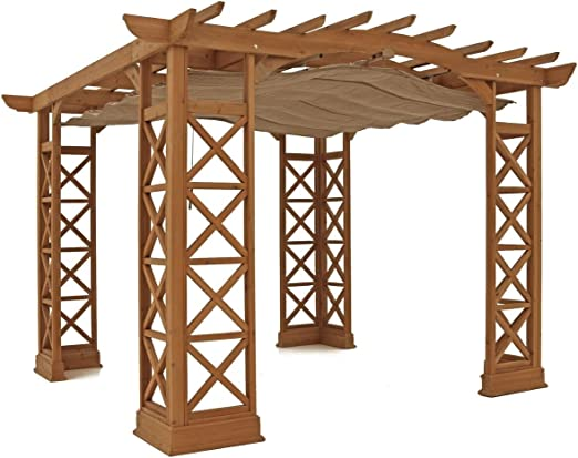 Yardistry Preston - Pérgola con Parasol retráctil (12 x 14): Amazon.es: Jardín