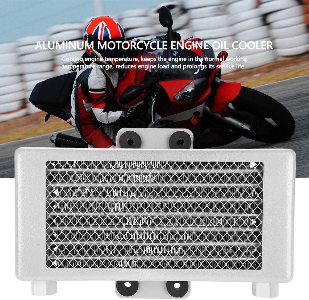 Blanc Refroidisseur /à huile en aluminium 125 ml moto ATV pour moteur 125CC-250CC