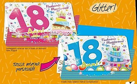Tarjeta Felicitación cumpleaños Caudales 18 años Happy 1 a ...