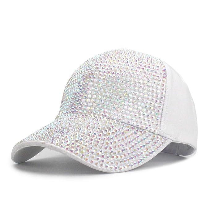 a5c2d5e4c1519 Children s Baseball Cap for Girl Boy Baby Snapback Hat Summer Fashion Baseball  Hat Cap Cute Diamond Kids Hats at Amazon Men s Clothing store