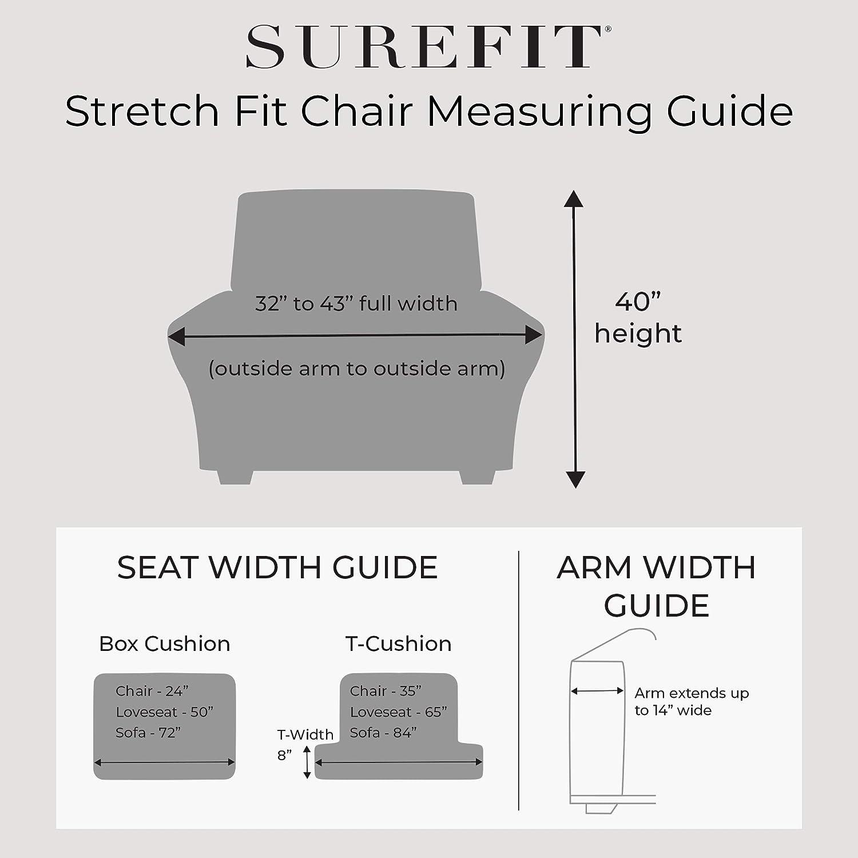 SureFit Stretch Morgan 1-Piece Gray Recliner Slipcover