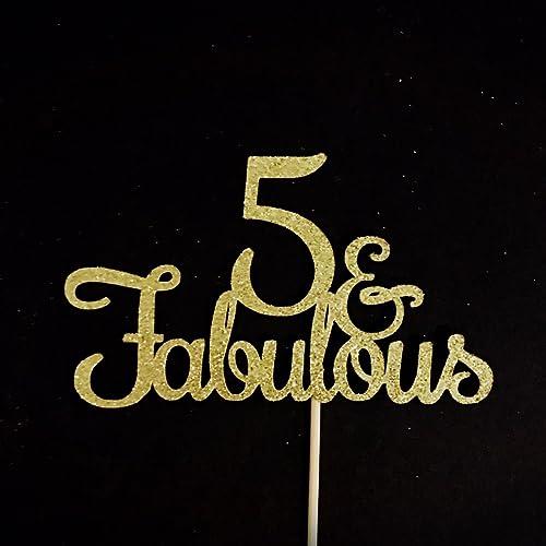 Amazon 5 And Fabulous Cake Topper 5th Birthday Party Anniversary Handmade
