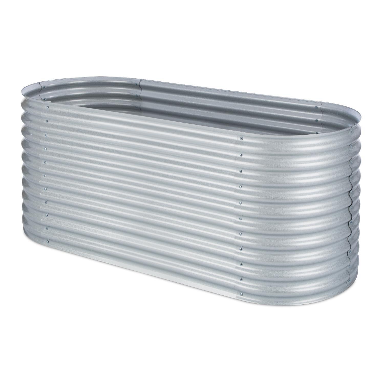 Hochbeet aus Stahl-Wellblech